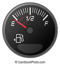 Medidor de gasolina, medidor de combustible