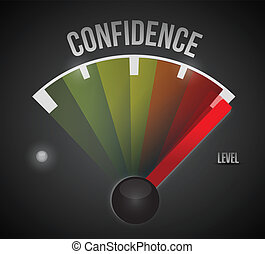 Medidor de nivel de confianza de baja a alta