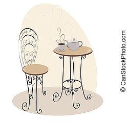 Mesa de café francés