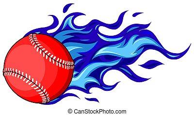 movimiento, movimiento, o, beisball, sofbol, líneas, ilustración, vector