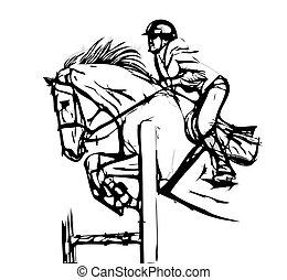 Muestra ilustración de vectores de salto