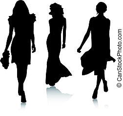 Mujeres de moda silueta