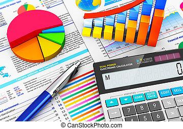 Negocios, finanzas y concepto de contabilidad