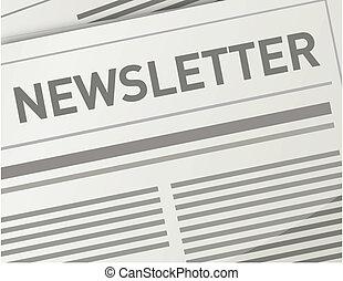 newsletter, diseño, ilustración