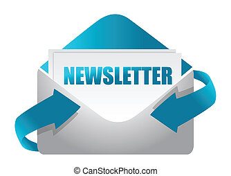 newsletter, sobre, ilustración