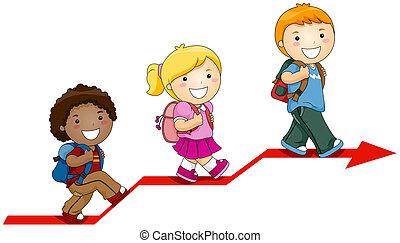 niños, aprendizaje