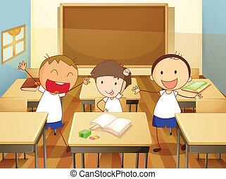 Niños en una clase