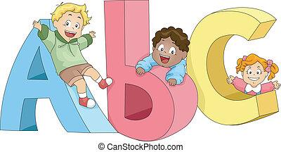 Niños jugando con Abc