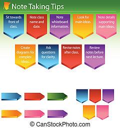 Nota recibiendo consejos