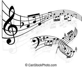 Notas de música de fondo