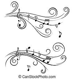 Notas musicales ornamentales