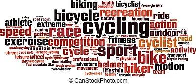 Nube de palabra de ciclismo