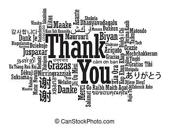 Nube de palabras de agradecimiento Multilingual