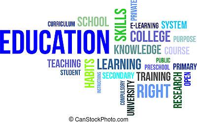 Nube de palabras, educación