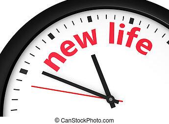 Nueva vida comenzando el concepto de reloj de tiempo