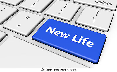Nuevo concepto de botón de la vida