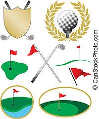 Ocho colores de golf