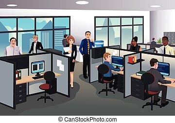 oficina de trabajo, gente