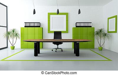 Oficina moderna verde