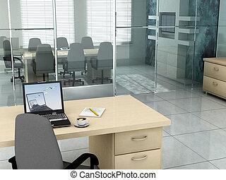 Oficina por la mañana
