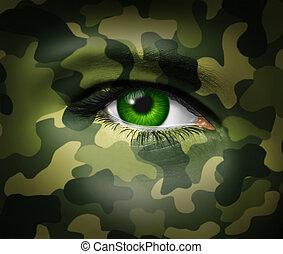 Ojo militar de camuflaje