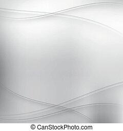 ondas, plano de fondo, plata, resumen
