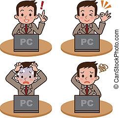 opere, computadora hombre