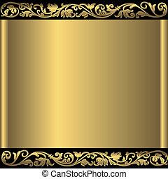 Oro abstracto fondo (vector)
