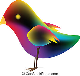 Pájaro con malla de gradiente