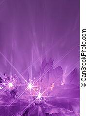 púrpura, luces