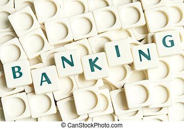 Palabra bancaria hecha por piezas sueltas