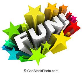 palabra, entretenimiento, starburst, estrellas, diversión, diversión