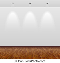 pared, blanco, madera, habitación, vacío