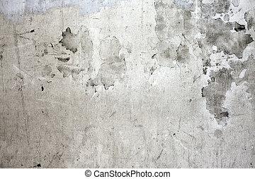 pared, concreto, agrietado, grunge
