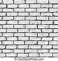 pared, ladrillo, pattern., seamless