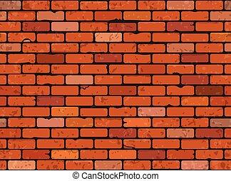 pared, ladrillo, seamless
