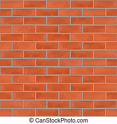 pared, ladrillo, seamless, plano de fondo