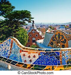 Park guell, barcelona - España