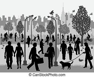 parque de la ciudad, everyday people