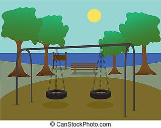 patio de recreo, parque