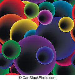 Patrón de burbujas redondas sin costura. Vector
