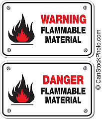 Peligro material inflamable
