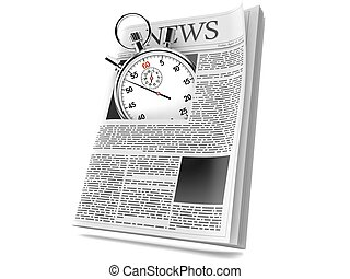 Periódico con cronómetro