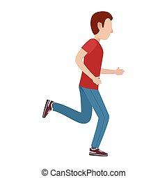 Personaje masculino de dibujos en movimiento