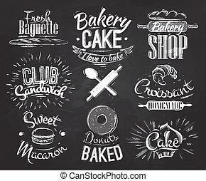 Personajes de pastelería tiza