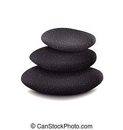 piedras, equilibrado, pila