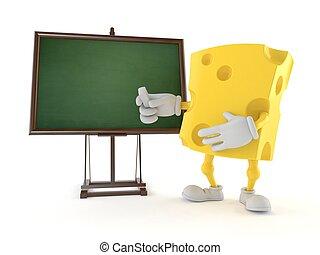 pizarra, blanco, queso, carácter