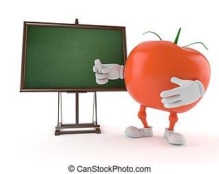 pizarra, tomate, blanco, carácter