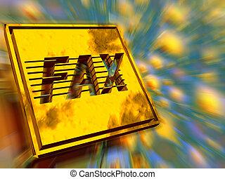 Placa de oro, velocidad de fax.