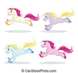 Pony en movimiento